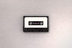 Black and White Cassette Tape
