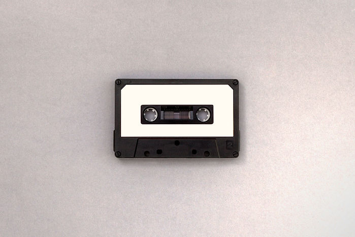 Black and White Cassette Tape