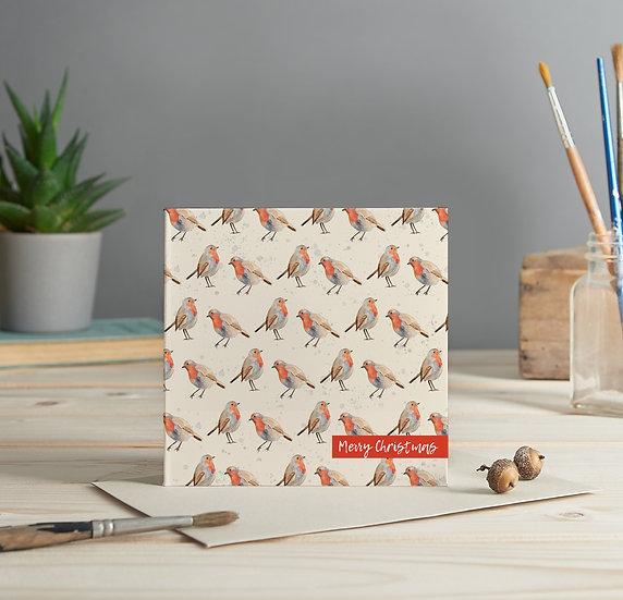 Robin pattern greeting card