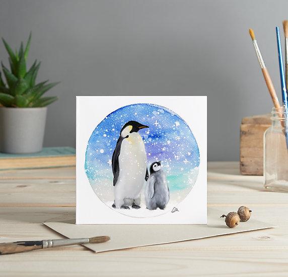 Penguin greeting card
