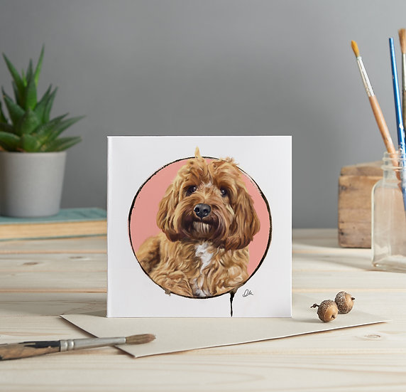 Cavapoo greeting card