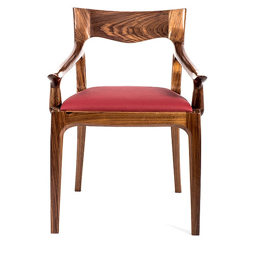 Wooden Low Back Armchair Front