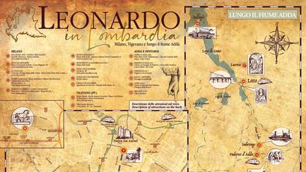 Leonardo in Lombardia - mappa