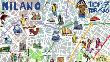Milano per bambini - mappa