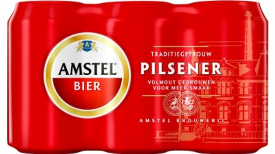 Amstel 6 pack gekoeld
