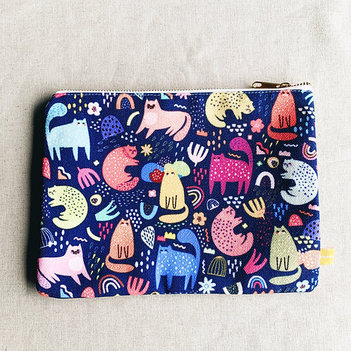 Canvas Pouch - Meet My Meow