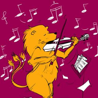 Lion qui swing