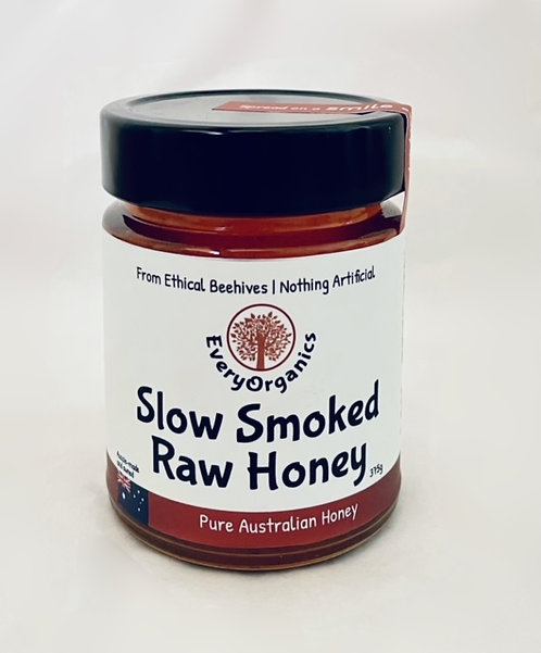 """SMOKED"" Slow Smoked Pure Australian Raw Honey- 375g"