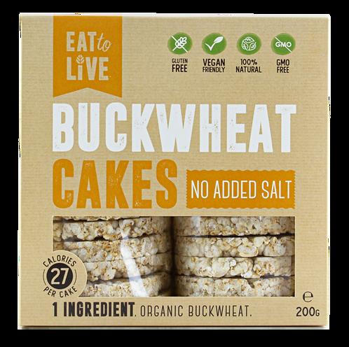 Eat to Live BUCKWHEAT CAKES No Added Salt (Gluten Free)