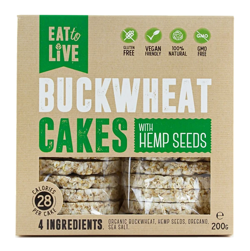 Eat to Live BUCKWHEAT CAKES with Hemp (Gluten Free)