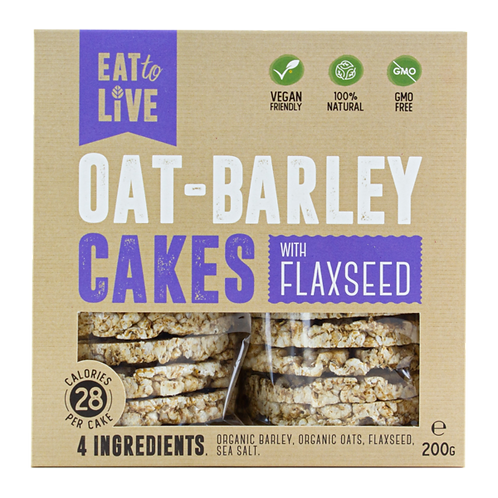 Eat to Live OAT - BARLEY CAKES with Flaxseed