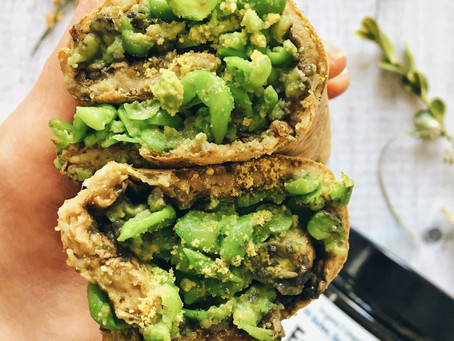 EveryMite, Pea and Avo Turmeric Wrap