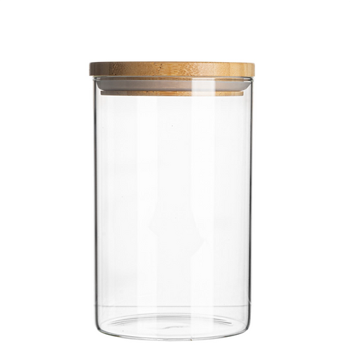 Eat to Live Glass Storage Jar with Wooden Lid. Perfect for Our Cakes!