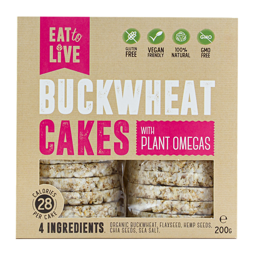 Eat to Live BUCKWHEAT CAKES with Plant Omegas (Gluten Free)