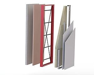sistema steelconcrete steelhome sezione