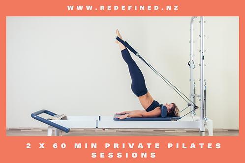 2 x 60 Min Private Pilates Gift Vouchers