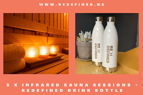 5x Infra Red Sauna Visits + ReDefined Drink Bottle Gift Voucher