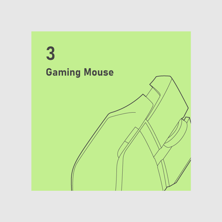 A gaming mouse allowing customization for different hand sizes and grip styles.
