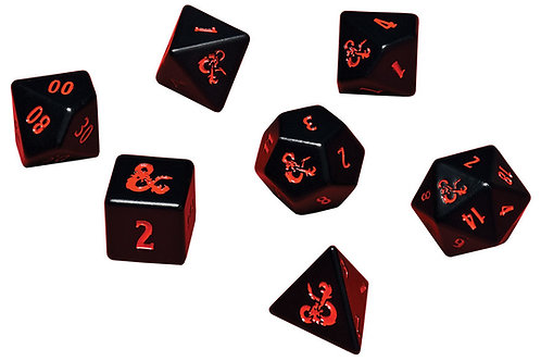 Dungeons & Dragons: Heavy Metal 7 RPG Dice Set