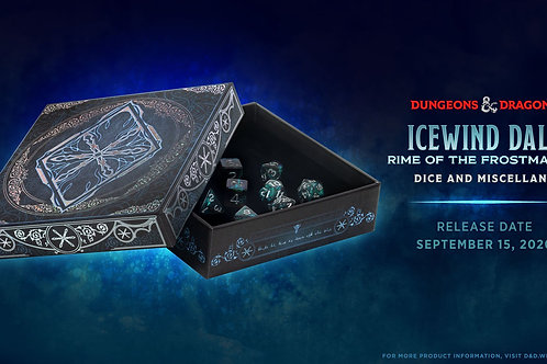 Icewind Dale: Rime of the Frost-maiden Dice Set