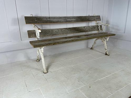 Cast iron three plank garden bench