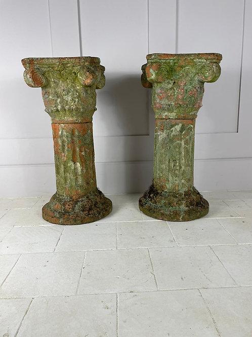 19th-century terracotta Corinthian columns