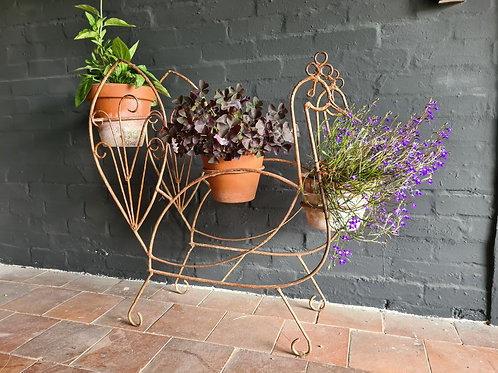 C20th Wrought Iron Plant Stand