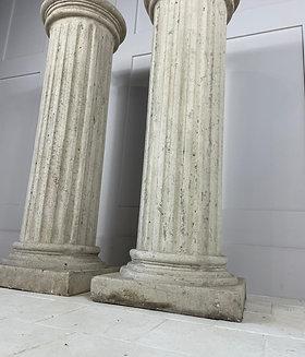 Pair of large 20th century columns