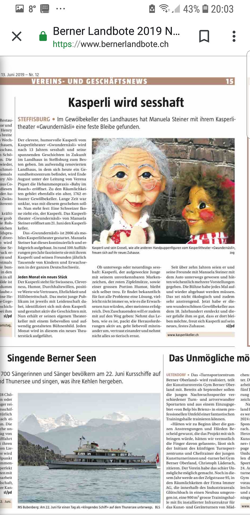 Zeitungsartikel im Berner Landbote.jpg