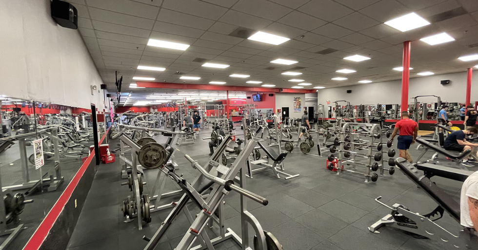 Free weights area