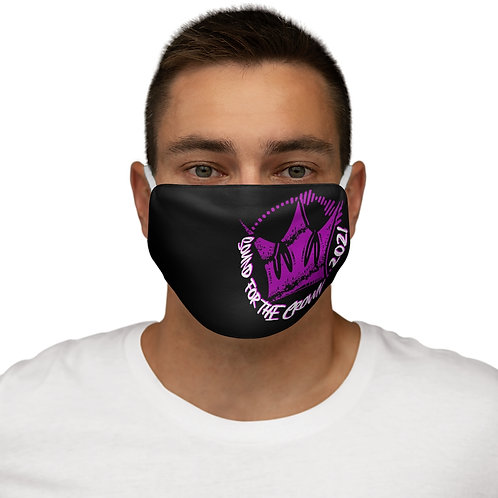 Black SFTC 2021 Snug-Fit Polyester Face Mask