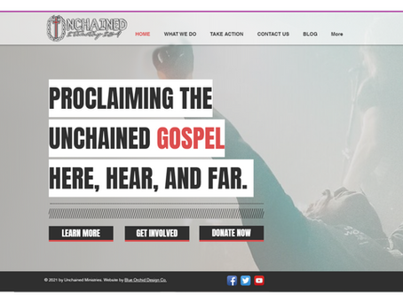 Unchained Ministries Release new website