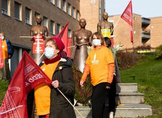 Storprotest mot planlagt riving av deler av Rikshospitalet