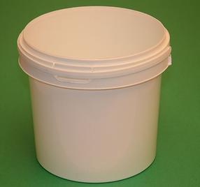 1 Gallon Round Plastic Container - Handl