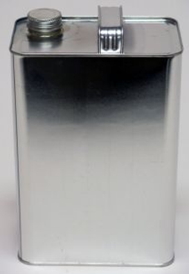 1 Gallon F-Style Oblong Metal Can with S
