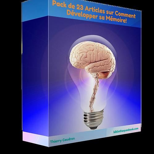 Pack de 23 articles sur comment développer sa mémoire (PDF)