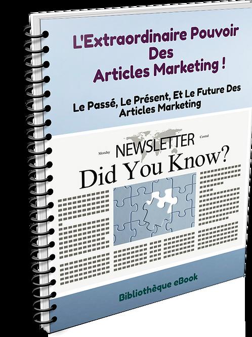 L'Extraordinaire Pouvoir Des Articles Marketing (PDF DLP)