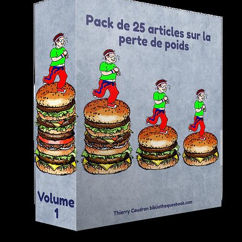Pack de 25 articles sur la perte de poids Volume 1 (PDF DLP)
