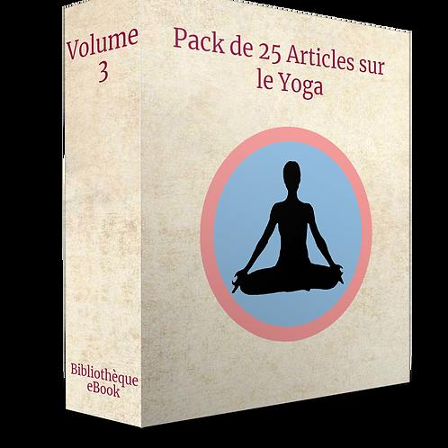 Pack de 25 articles sur le Yoga Volume 3  (DLP PDF)