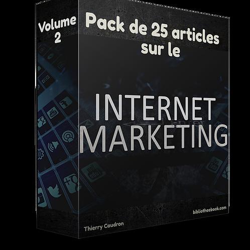 Pack de 25 articles sur le marketing internet Volume 2(PDF DLP)