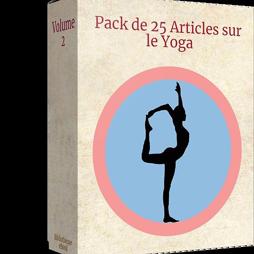 Pack 25 Articles sur le Yoga Volume 2 (DLP PDF)