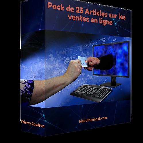 Pack de 25 articles sur les achats en ligne (PDF DLP)