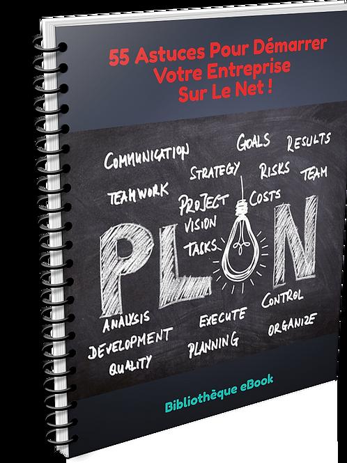 55 Astuces pour démarrer votre entreprise sur le net ! (PDF DLP)