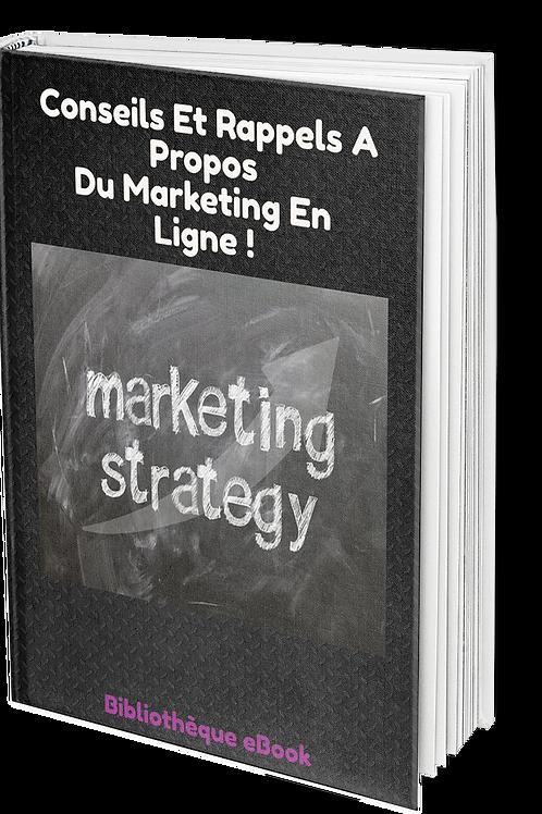 Conseil et rappels à propos du marketing en ligne. (PDF DRM)