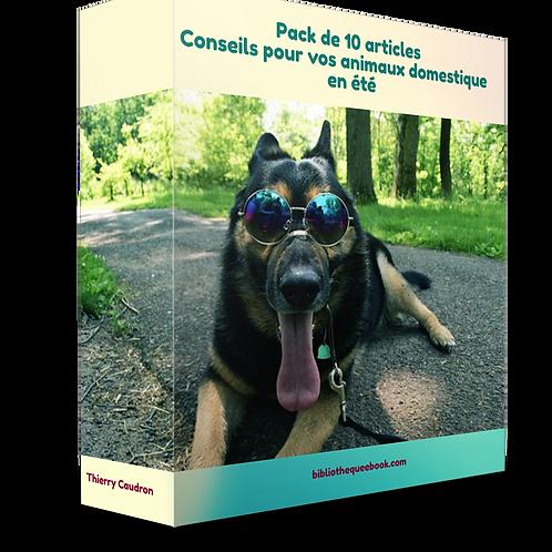 Pack 10 article soin des animaux domestique en été (PDF DLP)