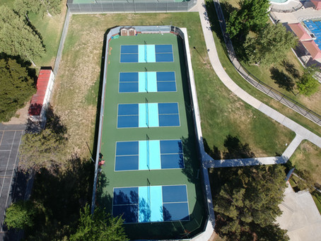 Newly Resurfaced Courts