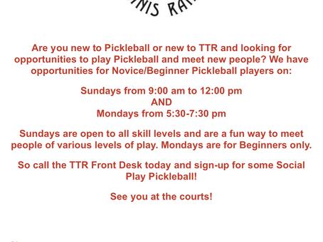 Pickleball at TTR
