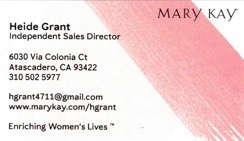 Mary Kay representative Heide Grant