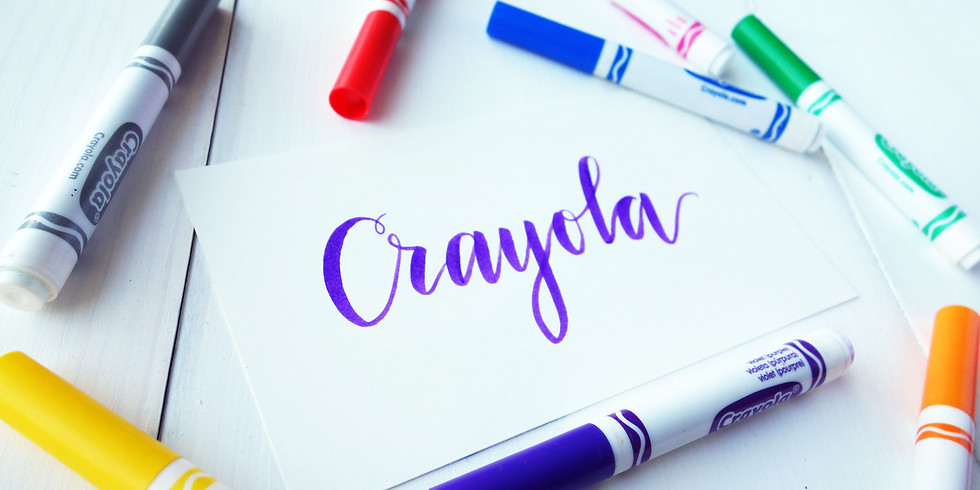 Mother-Daughter Crayola Calligraphy 2:00-3:30 pm     (6yrs. and up)