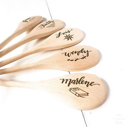 Custom wood burned wooden spoon (you pick the design)